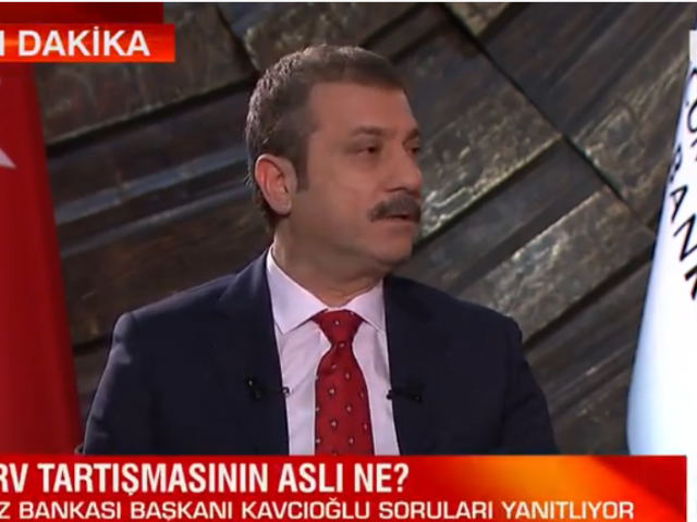Central Bank Governor Kavcioglu on prime time TV elaborates on monetary policy