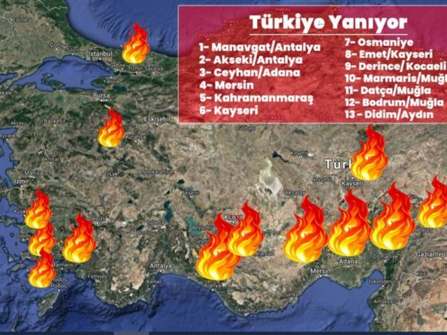 Forest fires choking Turkey's South