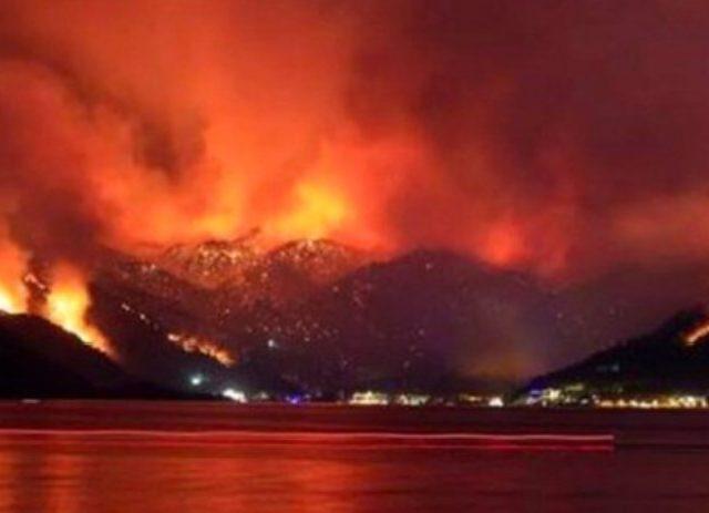 Evacuations continue as wildfires reach Turkey power plant